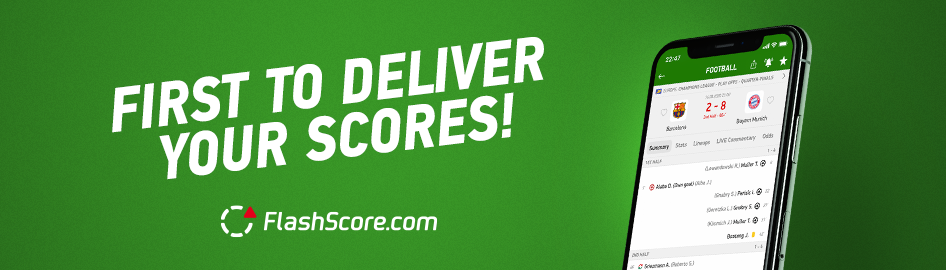 Get the latest updates on your favourite matches on FlashScore