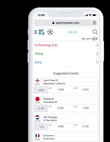 Online Sports Betting & Live Betting Platform - Sportmarket